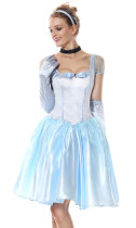 Canival Costume Princess Blue Dress