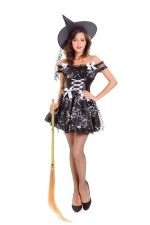 Хэллоуин Sexy Black Witch Costume