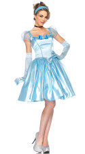 Fantasy Princess Blue Dress Costume