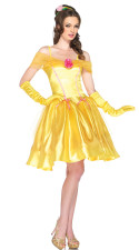 Fantasy Princess Yellow Dress Costume