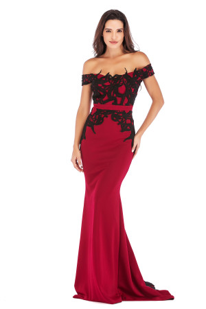 Sexy Sweetheart Applique Evening Dress