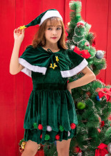 Santa Helper Adult Green Dress Costume
