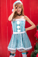 Xmas Blue Snow Dress Costume