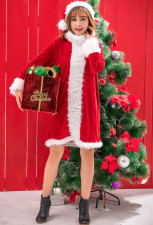 Santa Helper Adult Short Dress Costume