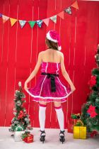 Xmas Hot Pink Dress Costume