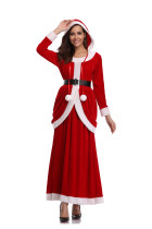 Santa Helper Adult Long Dress Costume