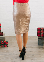 Sexy Knee-Length Sequins Curvy Dress