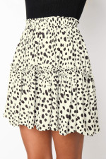 Casual Print A-line Mini Skirt