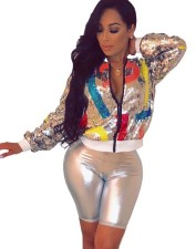 Colorful Sequins Long Sleeve Jacket
