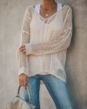 Hollow Out Loose Fitting Knit Top