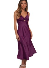 Wide Straps Satin Gown