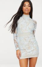White Lace Elegant Party Dress