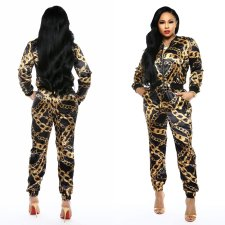 Print Chains Long Sleeve Tracksuit