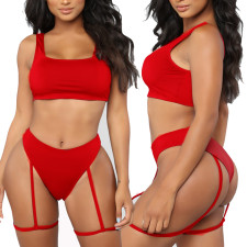 Two-Piece Red Sexy Swimwear