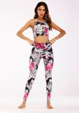 Print Two-Piece Fitness Yoga Set