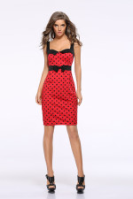 Wide Straps Polka Vintage Dress