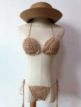 Two-Piece Brazilian Crochet Swimwear