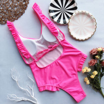 One-Piece Ruffles Swimwear