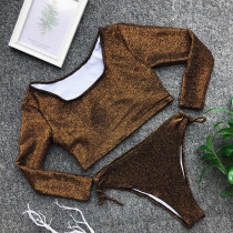 Two-Piece Long Sleeve Bling Bling Swimwear
