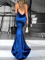 Royal Blue Straps Mermaid Evening Dress