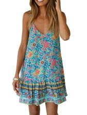 Floral Straps Resort Dress