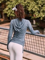 Long Sleeve Active Plain Hoody
