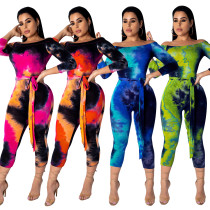 Multi-Color Long Sleeve Bodycon Jumpsuit