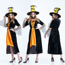 Black and Yellow Witch Costume