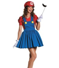 Red and Blue Super Marie Costume