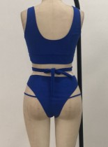 Two-Piece High Waist Strings Swimwear