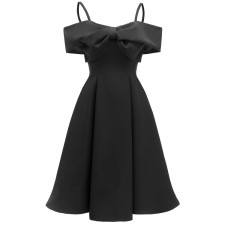 Vintage Straps Skater Dress with Big Bow