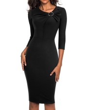 3/4 Sleeves Vintage Pencil Dress