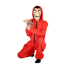 Mens Workout Red Jumpsuit with Full Sleeves