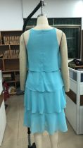 Sky Blue Halter Beach Dress