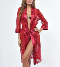 Sleepwear sexy in pizzo rosso