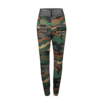 Hoge taille Camou Yoga broek