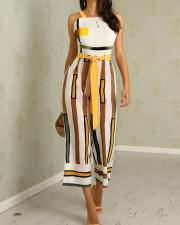 Wide Straps Stripped Loose Jumpsuit