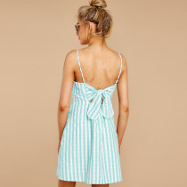Casual Straps Stripped A-Line Dress