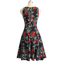 Sleeveless Vintage Flower Decent Dress