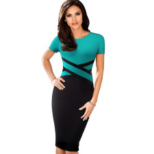 3/4 Sleeve Slim Fit Office Dress