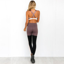 Sexy Contrast Yoga Bra and Leggings