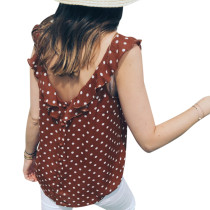 Sexy and Chic Polka Plung Tank
