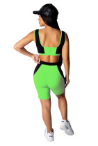 Sports Contrast Bra and Shorts