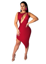 Sexy Cut Out Irregular Bodycon Dress