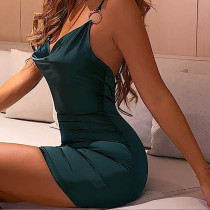 Green Sexy Straps Plung Party Dress