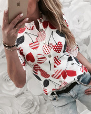 Lovely Print White Blouse with Sleeves