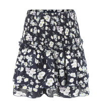 Floral Black Mini Layer Skirt