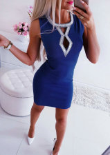 Casual Sleeveless Cut Out Detailed Mini Dress