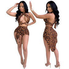 Imprimir Leopard Erotic Club Top e saia