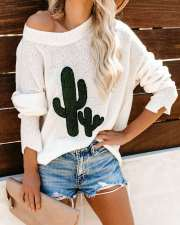 Round Neck White Pullover Sweater